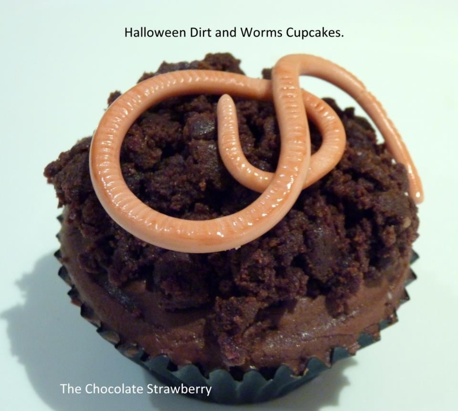 Dirt And Worms Cupcakes on Cake Central