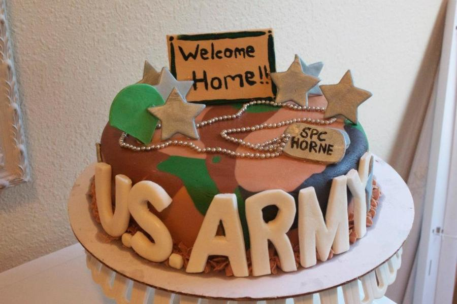 Welcome Home Cake For A Soldier Coming Home From Deployment on Cake Central