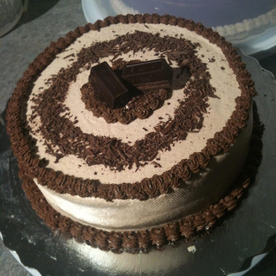 Peanut Butter Buttercream Icing On Chocolate Cake on Cake Central