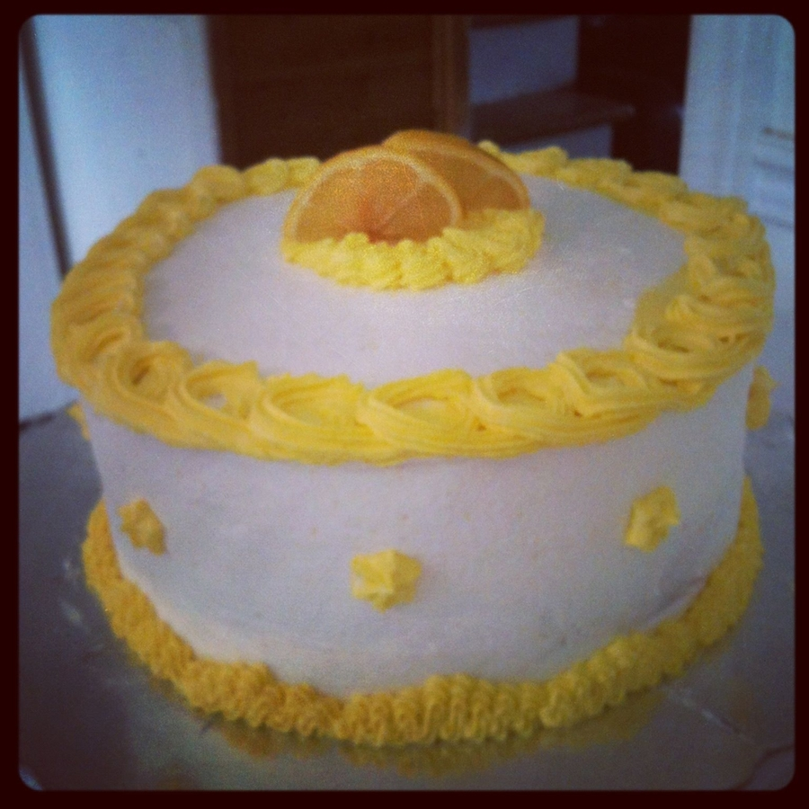 Lemon With Lemon Buttercream Icing on Cake Central