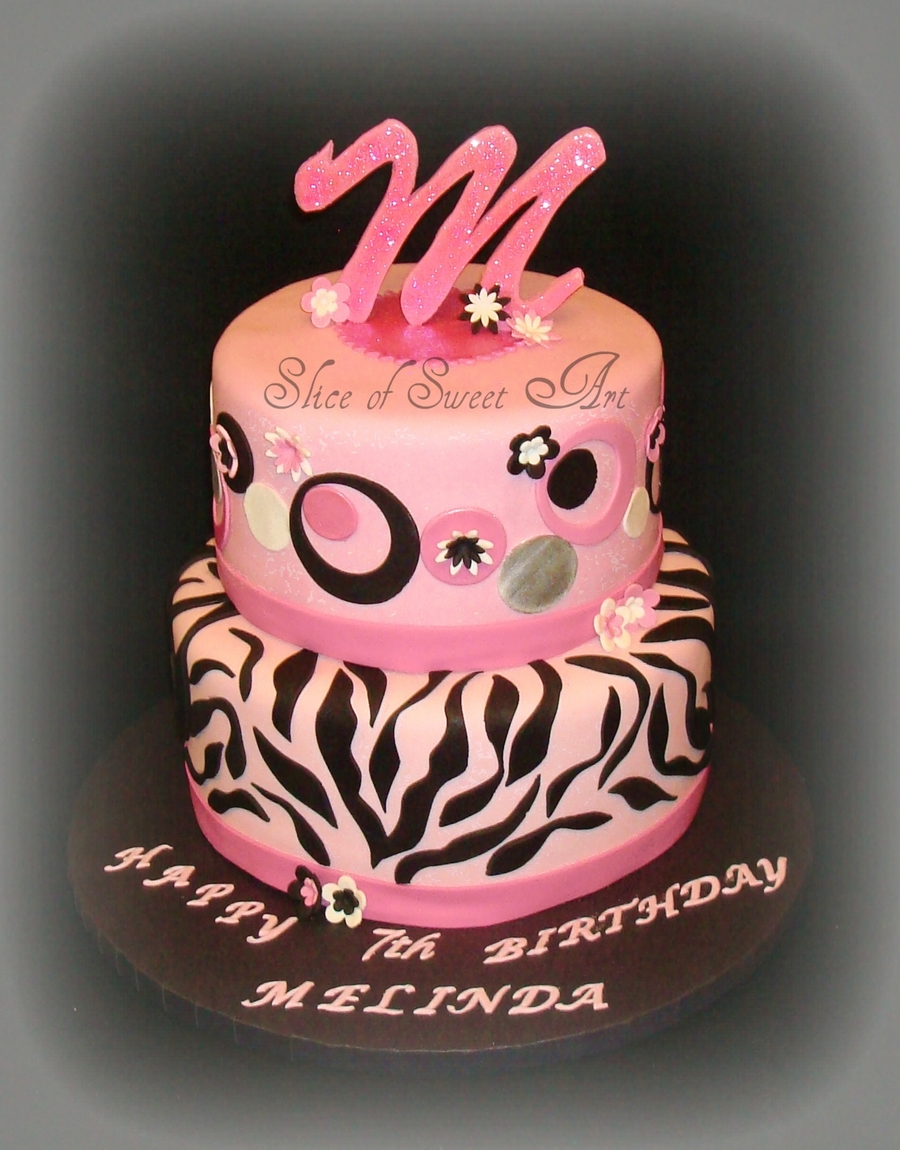 Pink & Black Birthday on Cake Central