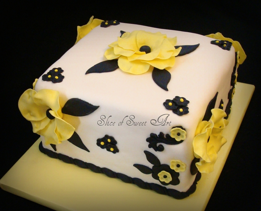 Black And Yellow Birthday on Cake Central