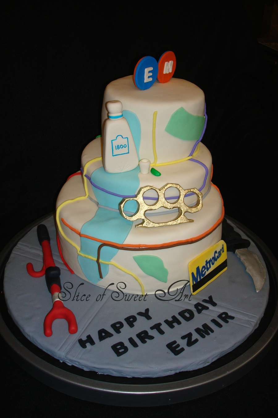 Stupendous Nyc Mta Inspired Birthday Cake Cakecentral Com Personalised Birthday Cards Paralily Jamesorg