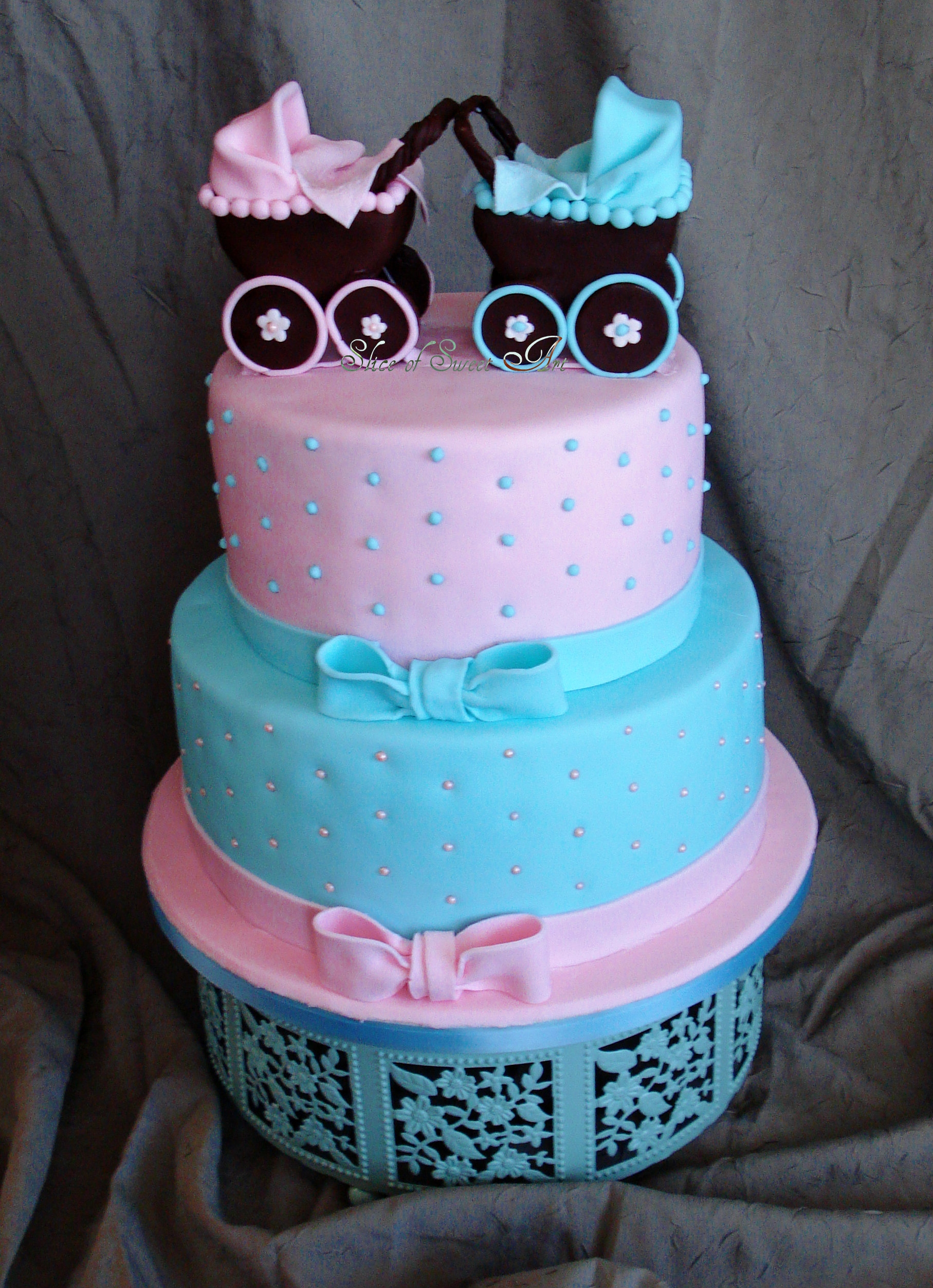 Pink & Blue Baby Shower CakeCentral