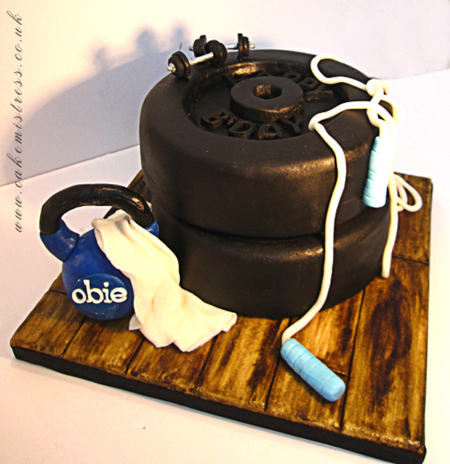 Personal Fitness Birthday Cake