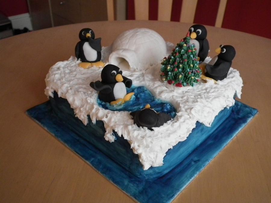 Penguin Party on Cake Central