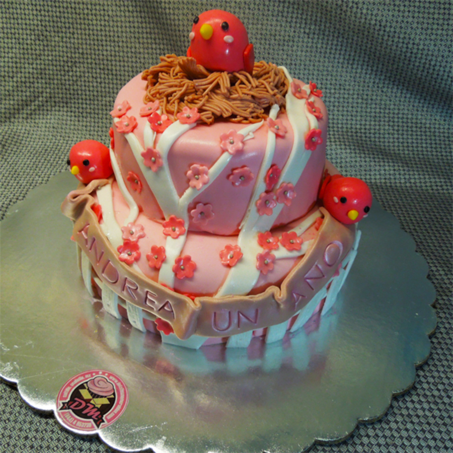 Pink Birds Nest on Cake Central