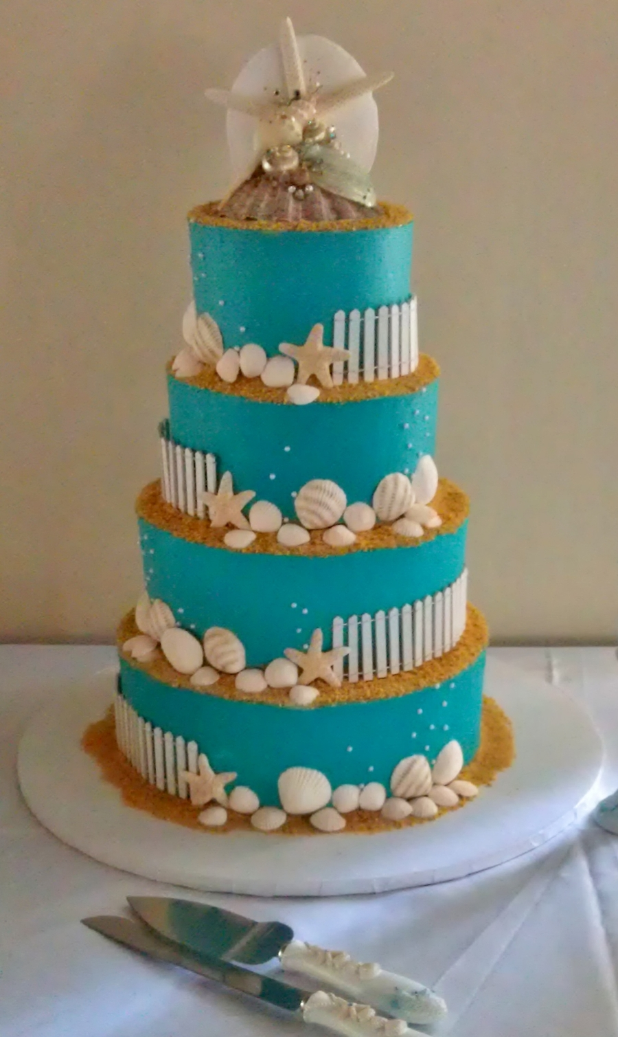 Beach Themed Wedding Cake on Cake Central