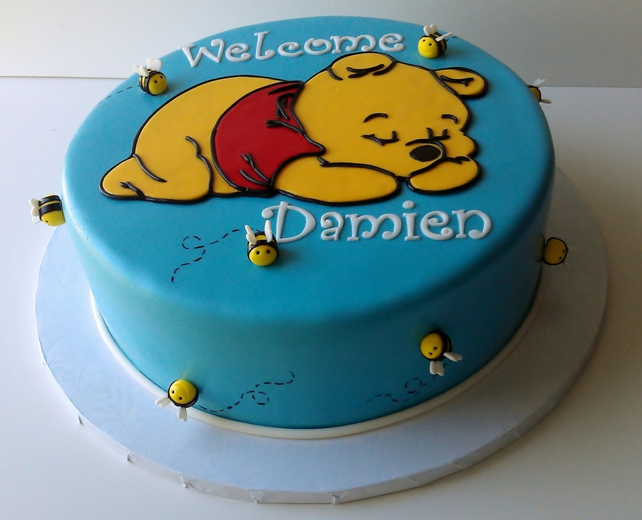 Winnie The Pooh For A Baby Shower  on Cake Central