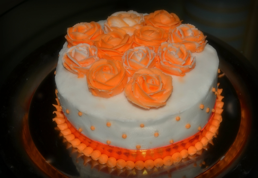 Bright Orange on Cake Central