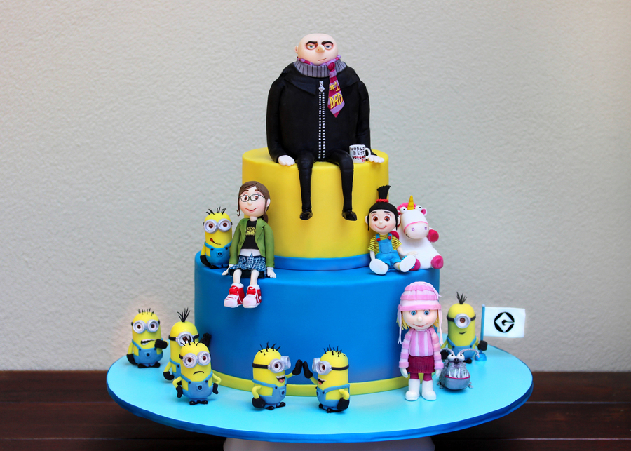 Finally I Have Something To Show For Myself My Despicable Me Cake For My 4 Year Old Son Liam I Cant Tell You How Much I Enjoyed Making Th on Cake Central
