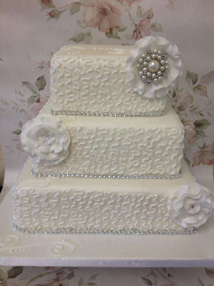 My 1St Attempt At Cornelli Lace Cake But Im Pretty Happy With It on Cake Central