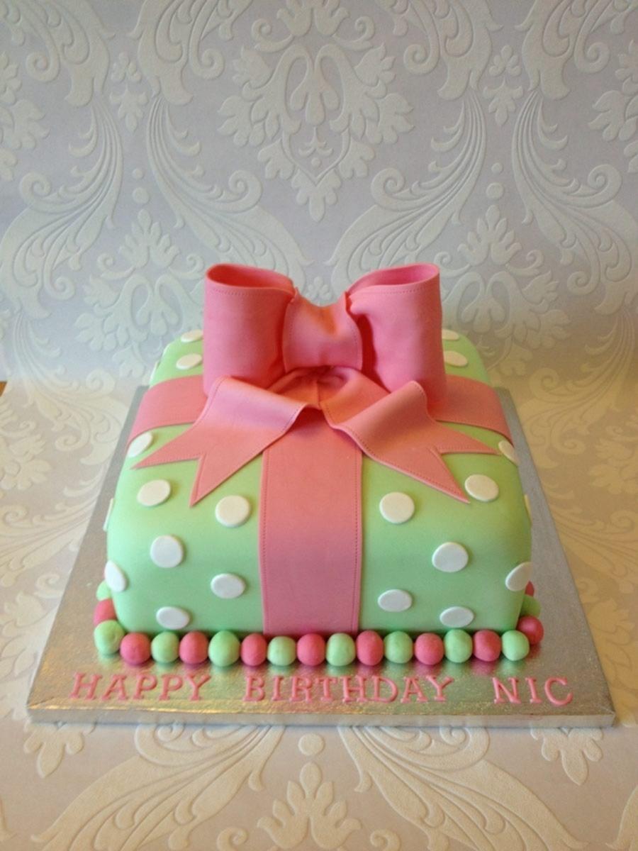 Pleasing Present Birthday Cake Cakecentral Com Funny Birthday Cards Online Chimdamsfinfo