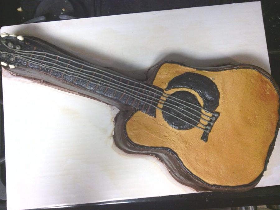 Acoustic Guitar Cake on Cake Central