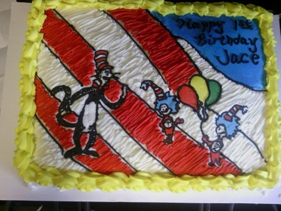 Dr. Seuss Birthday Cake on Cake Central