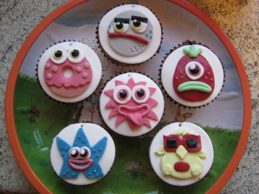 Moshi Monsters Chocolate Cupcakes on Cake Central