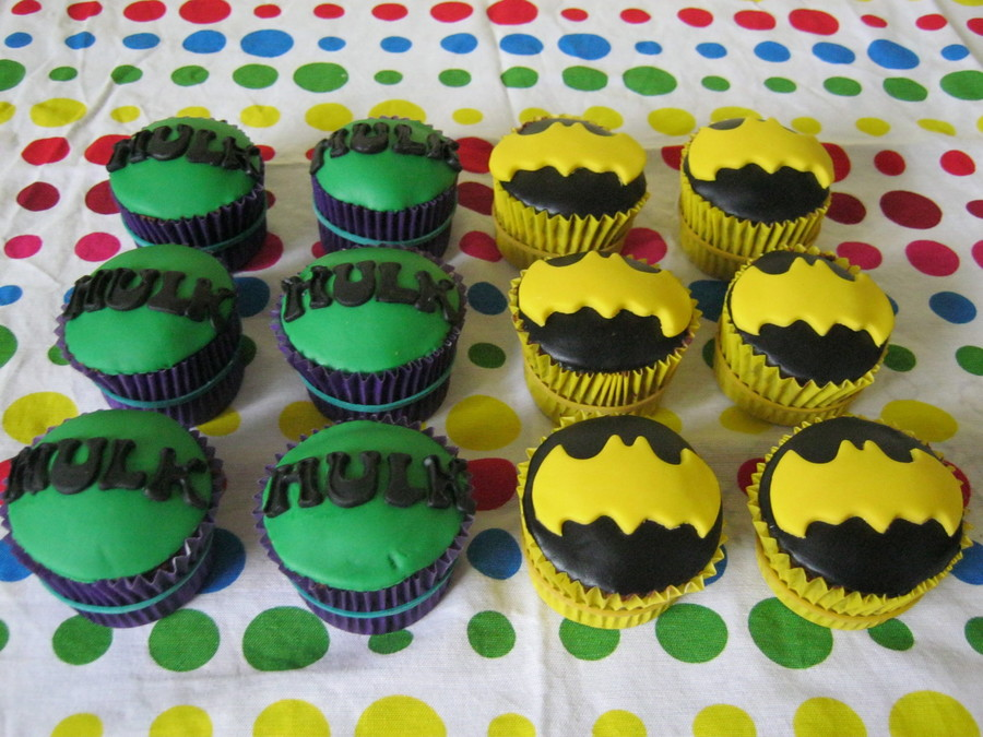 Superhero Cupcakes on Cake Central
