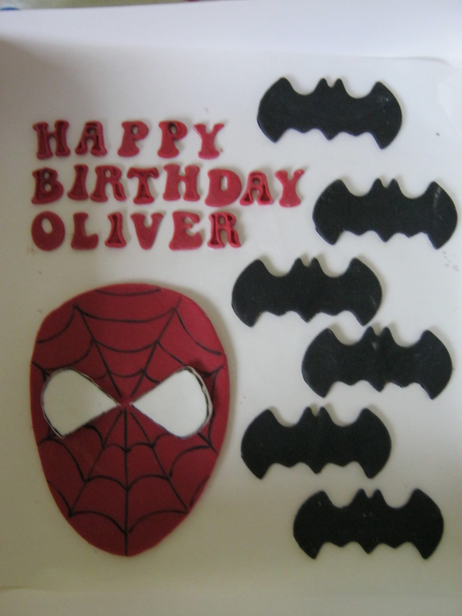 Spiderman/batman Cake Toppers  on Cake Central