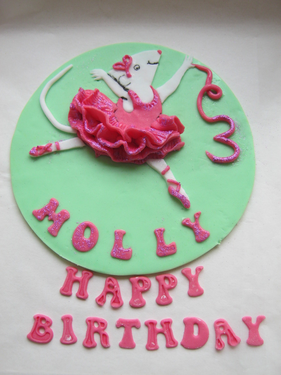 Angelina Ballerina Cake Topper on Cake Central
