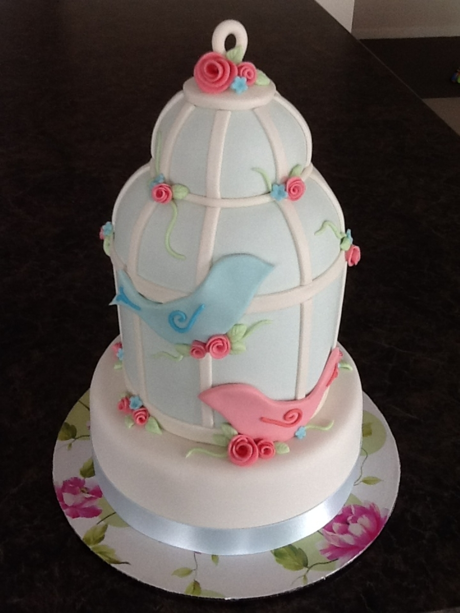 Birdcage With Lovebirds on Cake Central