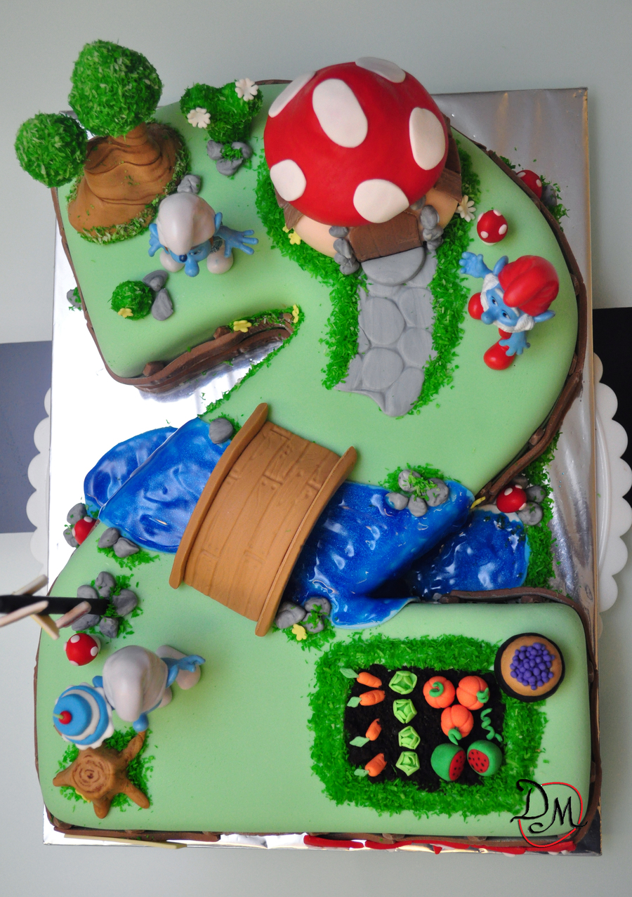 Smurf Village Cake Cakecentral Com
