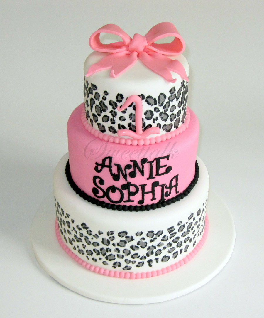Leopard Print Cake, Cheetah Cake, 3 Tier Animal Print Cake, Pink Animal Print Cake on Cake Central