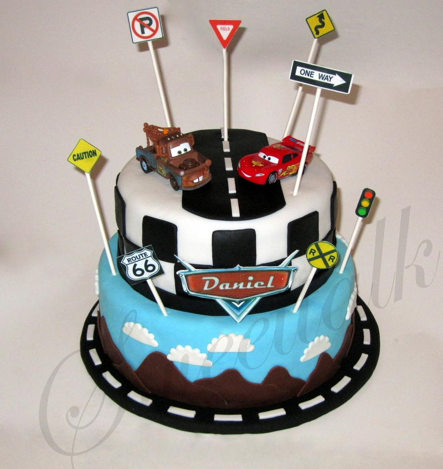 Cars Disney Cake Decorating Recipe