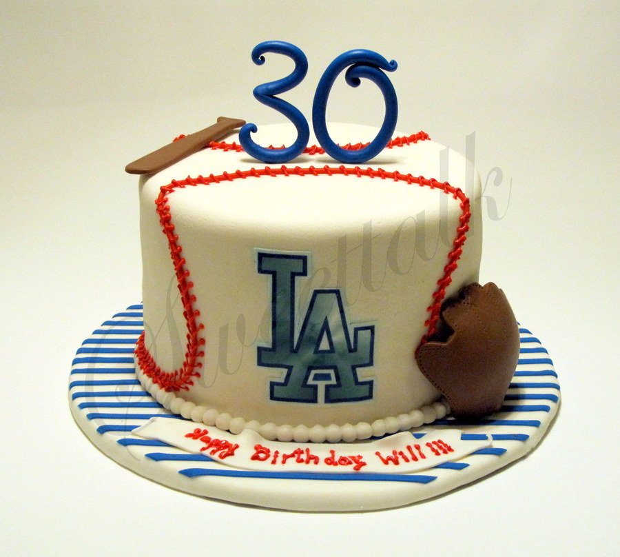 Los Angeles Dodgers Cake