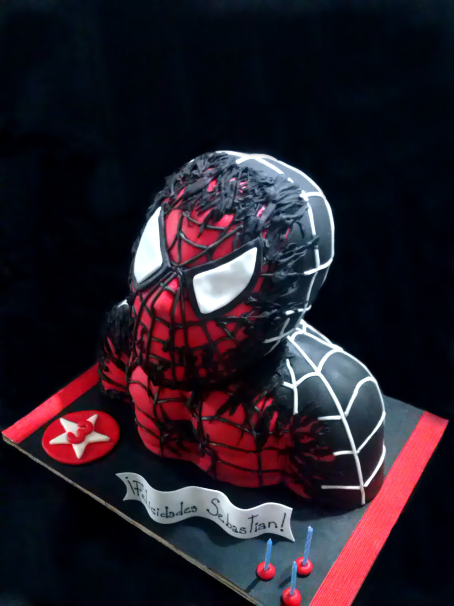 Black spiderman cakes - photo#49