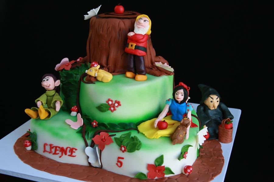 Snow White Fondant Cake All Edible on Cake Central