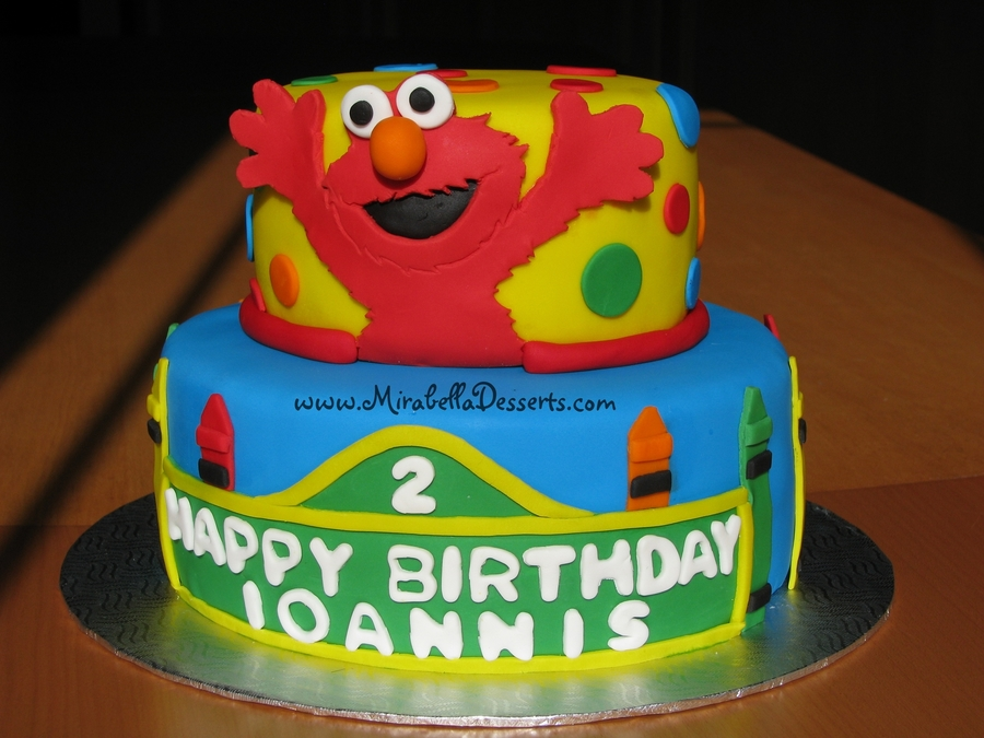 Elmo Birthday Cake Decorations : Sesame Street/elmo Birthday Cake - CakeCentral.com