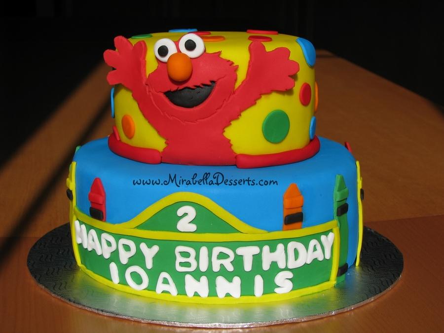 Sesame Street Elmo Birthday Cake On Central