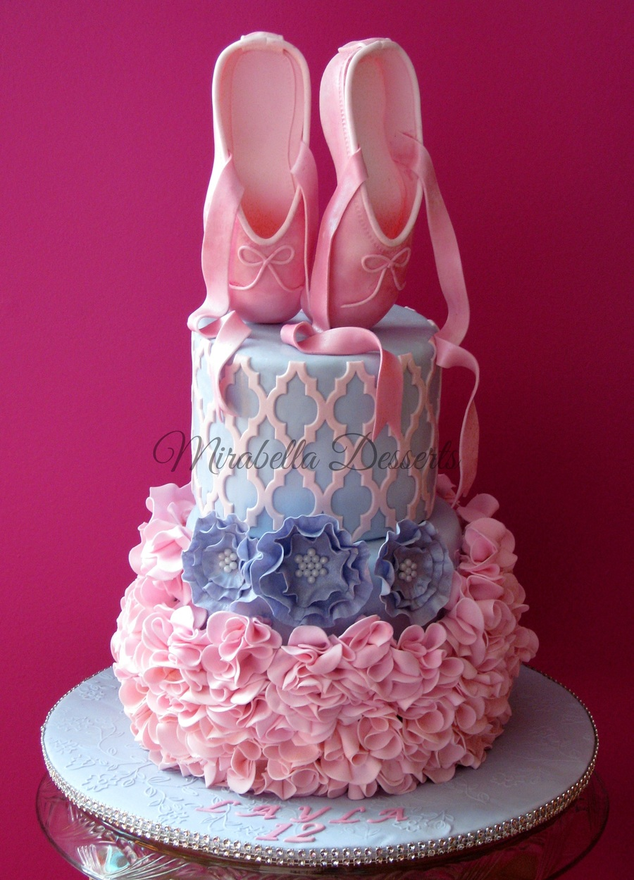 this is a ballerina cake i made for my daughter the toppers are