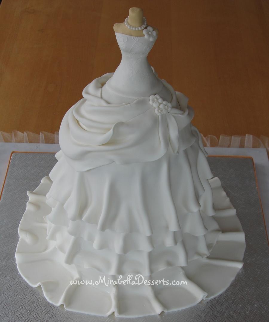 Wedding dress cake for Wedding dress cupcake cake