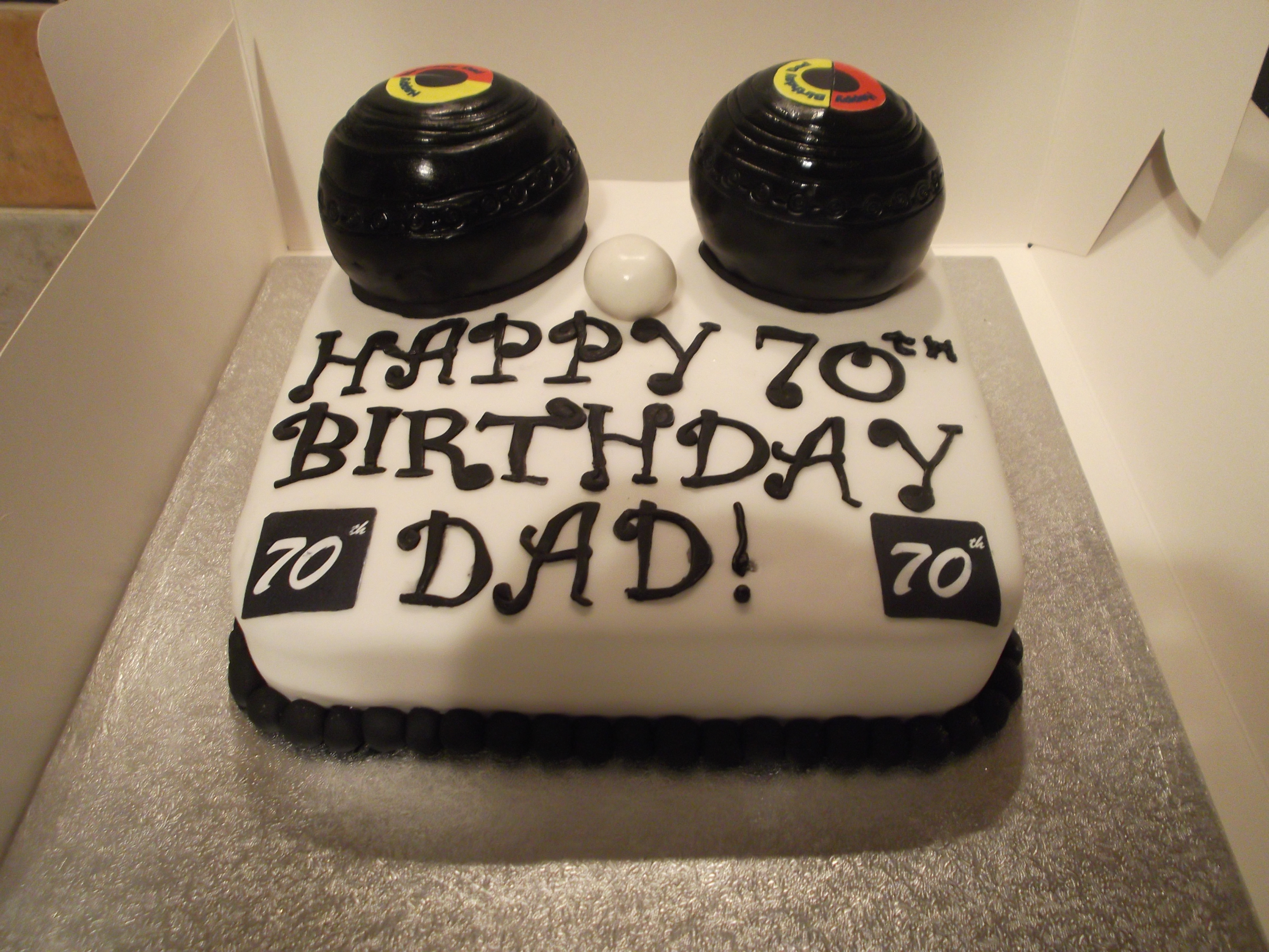 70th Birthday Cake For A Man Who Loves To Play Bowls Cakecentral