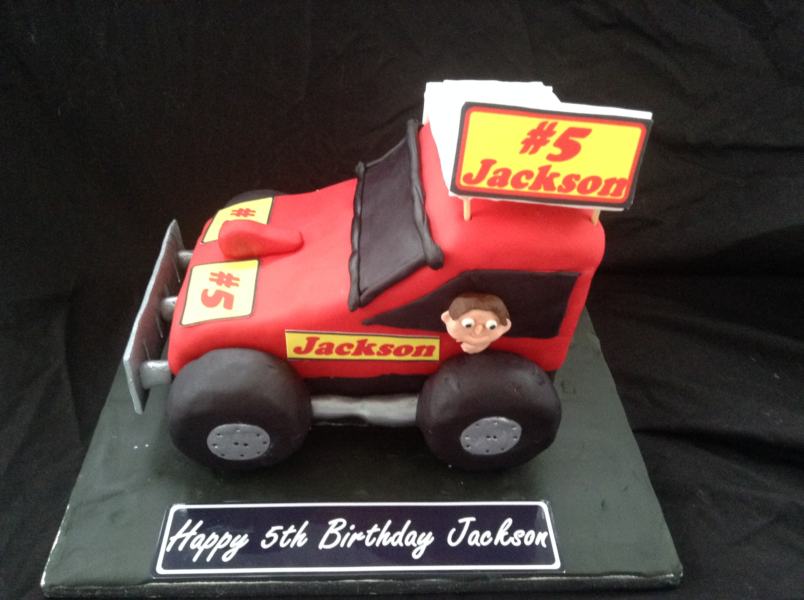 Birthday Cake For A Little Boy Who Loves Stock Cars CakeCentralcom