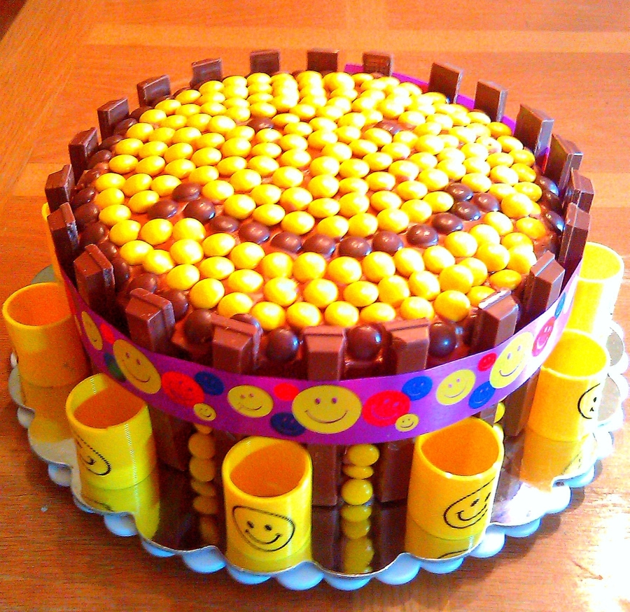 Smiley Face Candy Cake on Cake Central