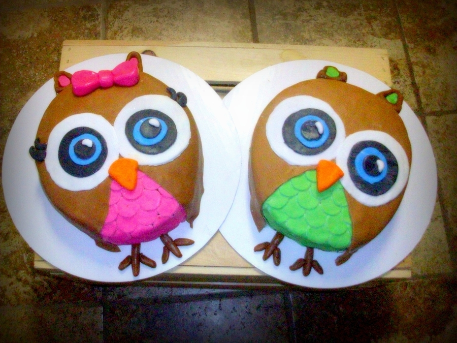 Twin Owl Cakes on Cake Central