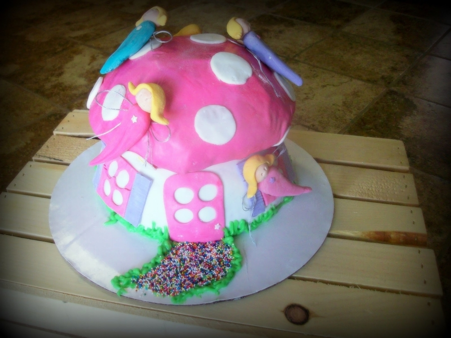 Fairy Toadstool Cake on Cake Central