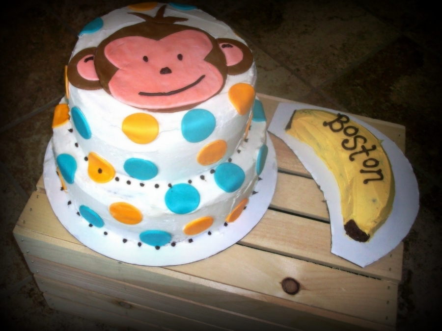 Mod Monkey 1st Birthday Cakecentral
