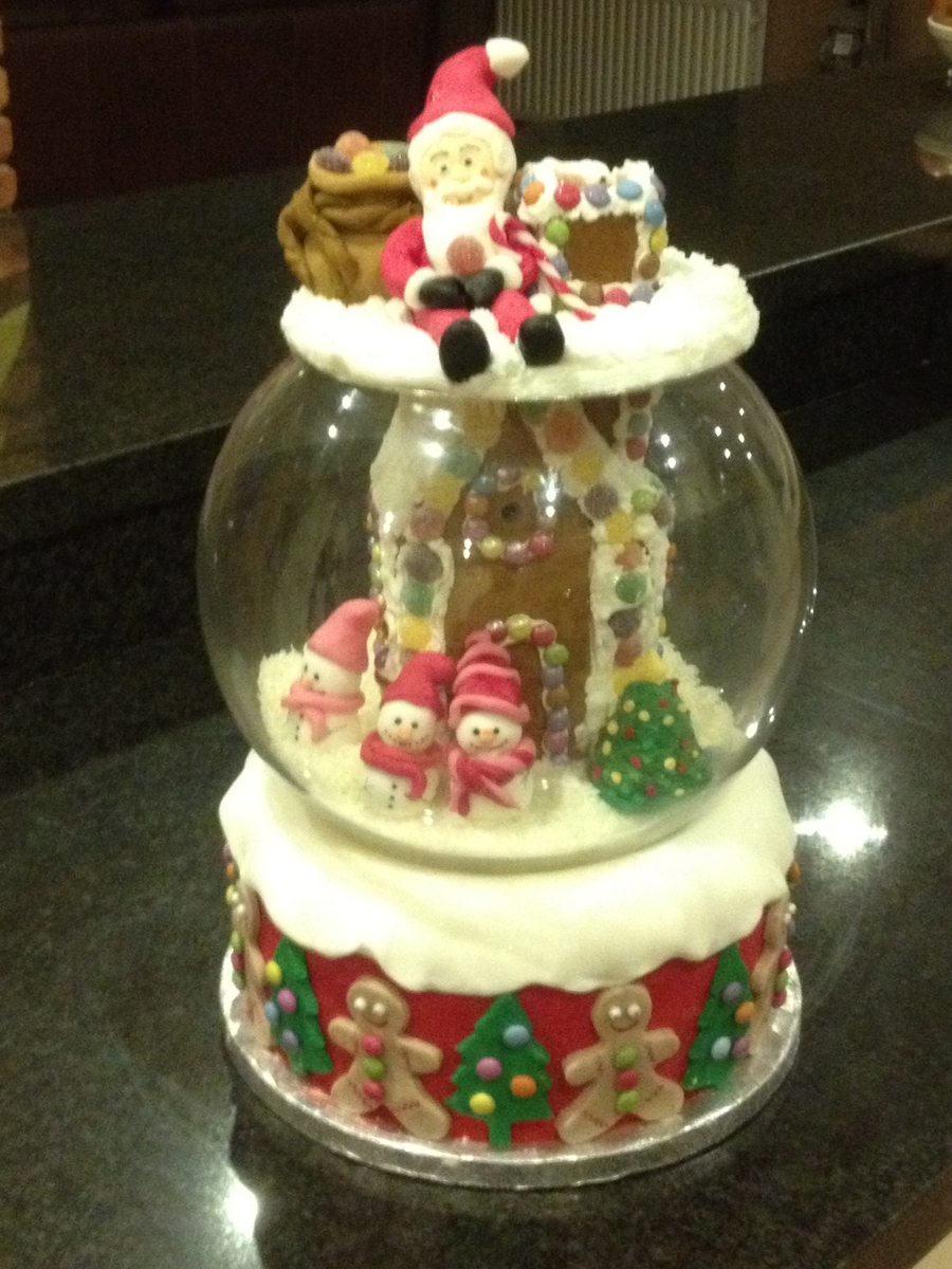Christmas Snow Globe on Cake Central