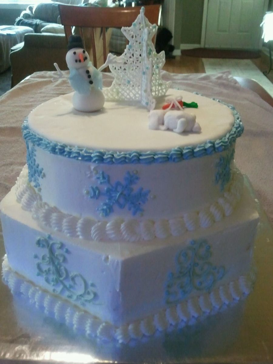 Italian Meringue Buttercream Cake I Made With My Granddaughter on Cake Central