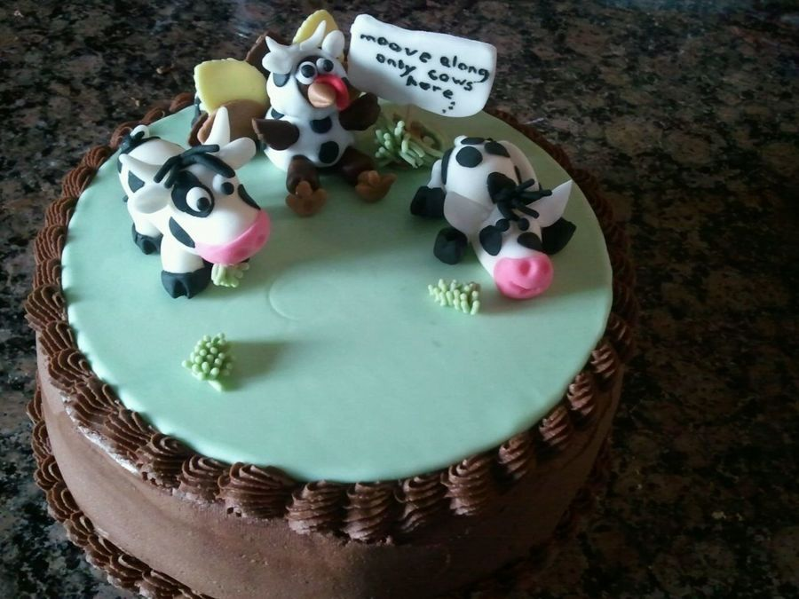 Turkey Disguised As A Cow on Cake Central