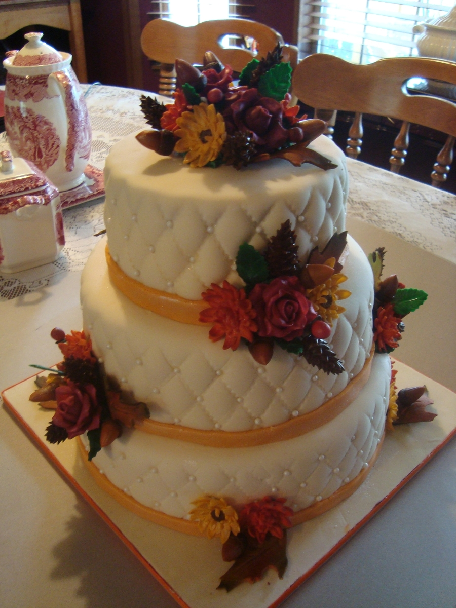 Fall Theme Wedding on Cake Central