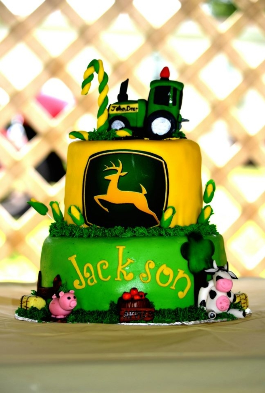 First Birthday Johndeere on Cake Central