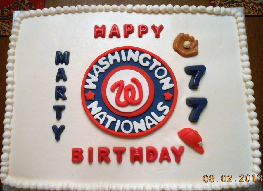 Nats Fan Celebrates 77Th Birthday on Cake Central
