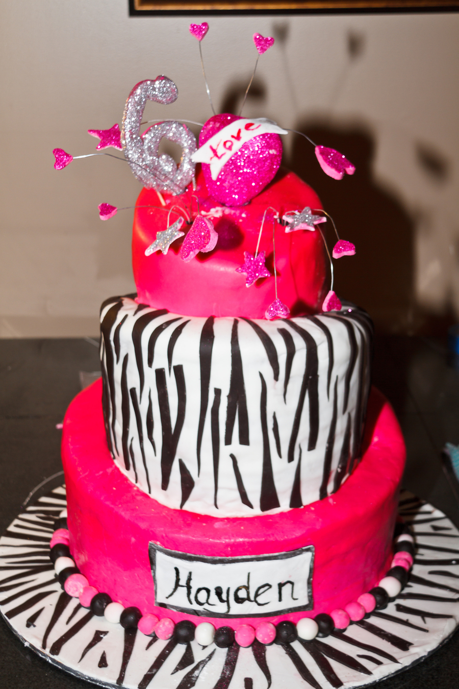 Hot Pink Topsy Turvy Birthday Cake For 6 Year Old Girl It
