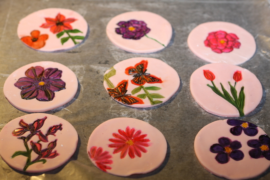 Hand Painted Cupcake Toppers Cakecentral
