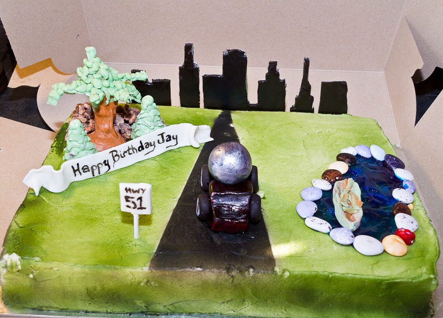 Cement Truck Themed Adult Birthday Cake Cakecentral