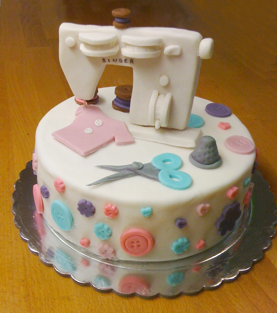 Sewing Machine Birthday Cake on Cake Central